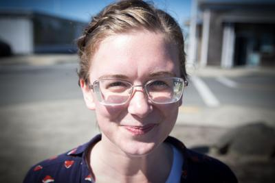 Ashley Nerbovig, 26, moved from Seattle to the Peninsula in August to work as a reporter for he weekly Chinook Observer in Long Beach