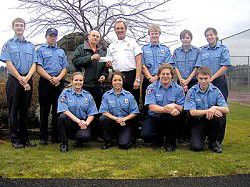 Fire cadets raise funds for Ilwaco Food Bank
