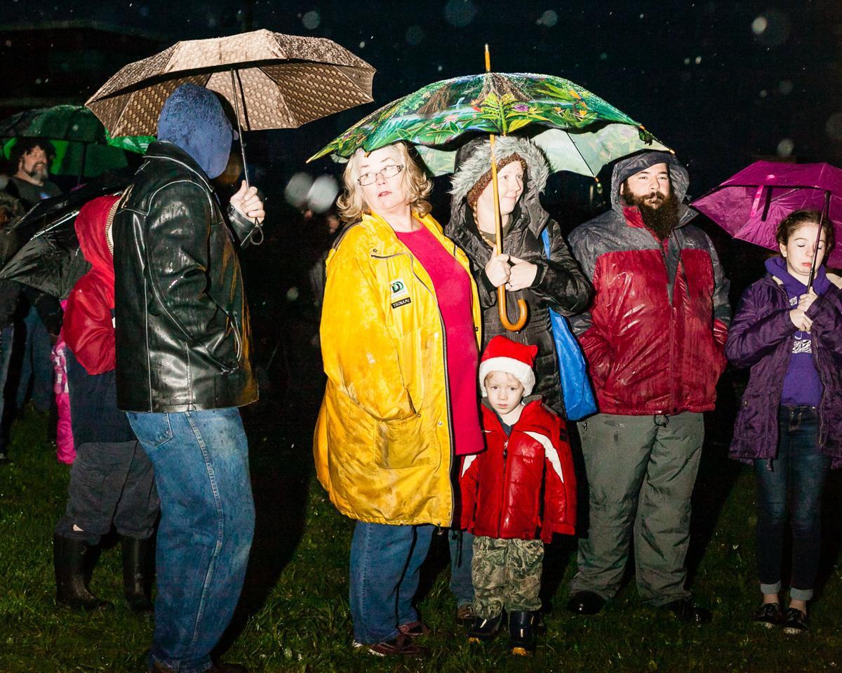 Soaking rain, soaring spirits