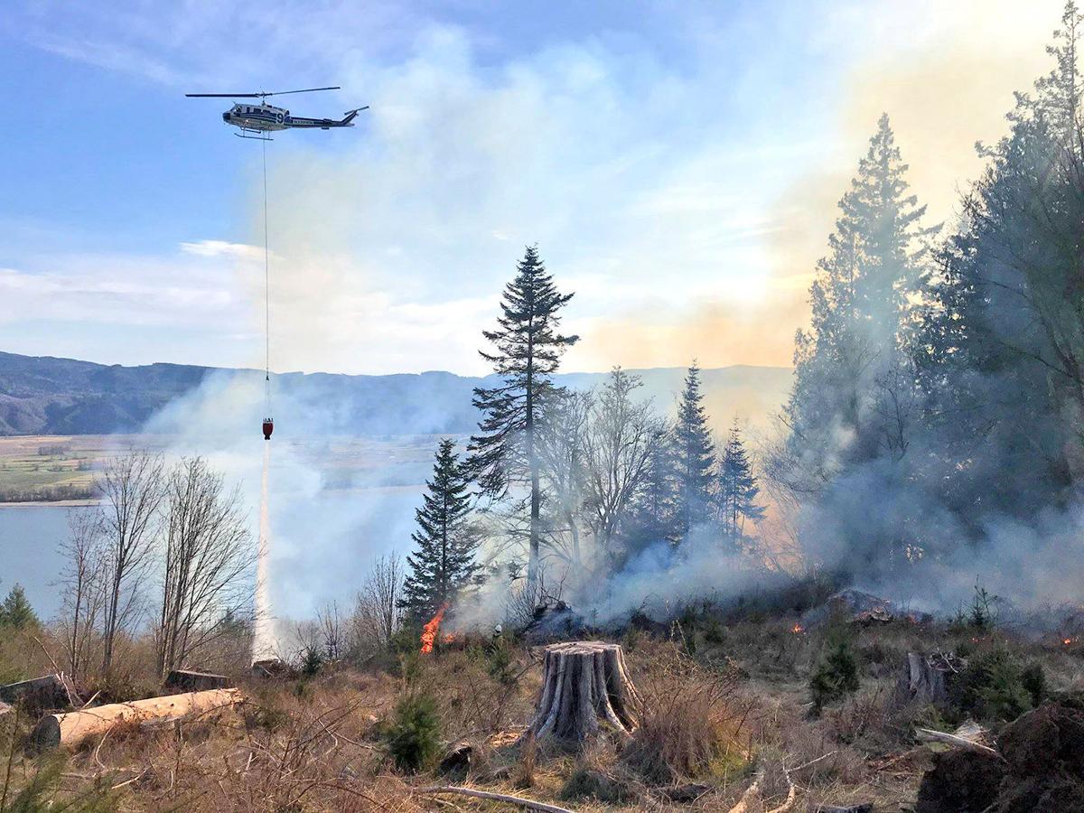 Cathlamet area fire