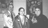 Kimberly Stephenson named Lion's Club Leo of the Year for 2003