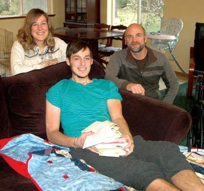 Ben Suprunowski excited to be home after car crash
