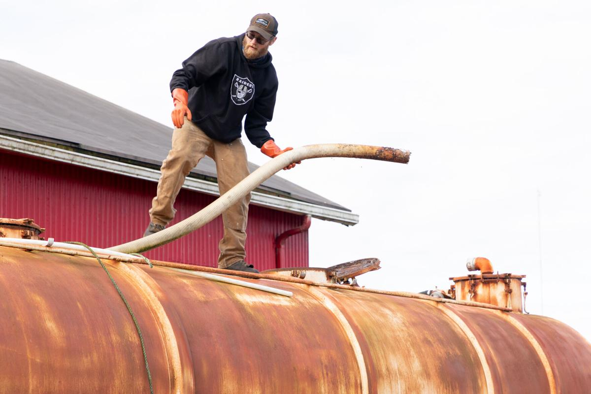 Erwin helps removes rusted tanker