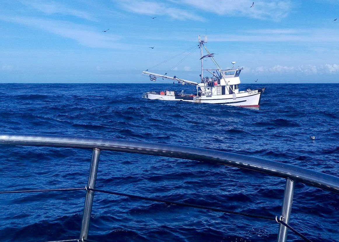 Coast Guard rescues five from sinking fishing boat