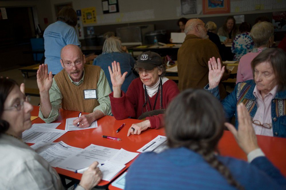 Democrats' decision an easy one at caucuses
