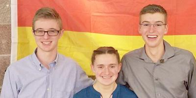 IHS trio packs for trip to Germany