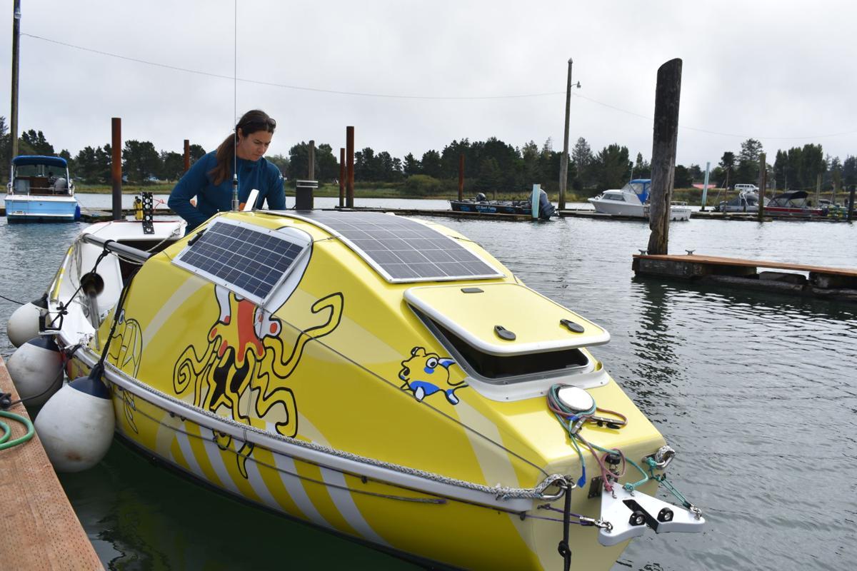 Lia Ditton at the Hammond Boat Basin