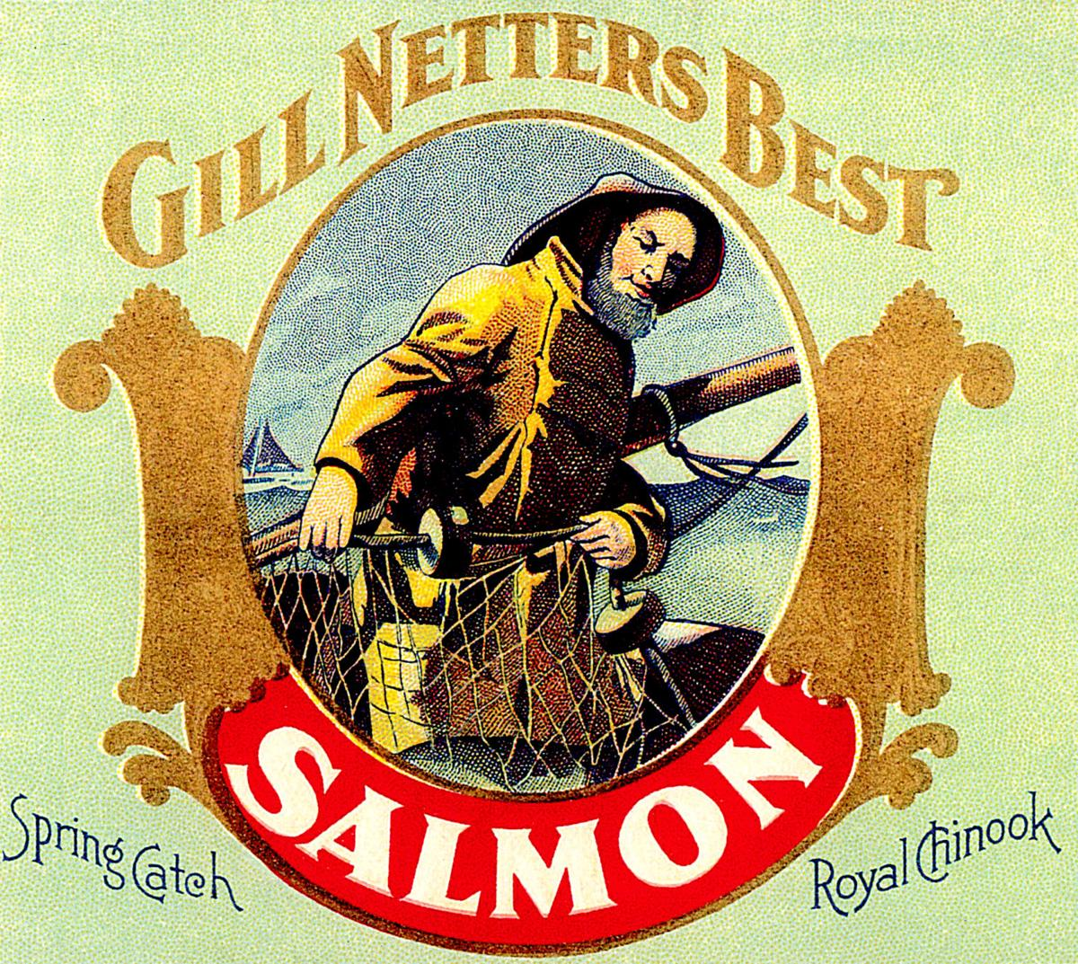 Salmon label detail