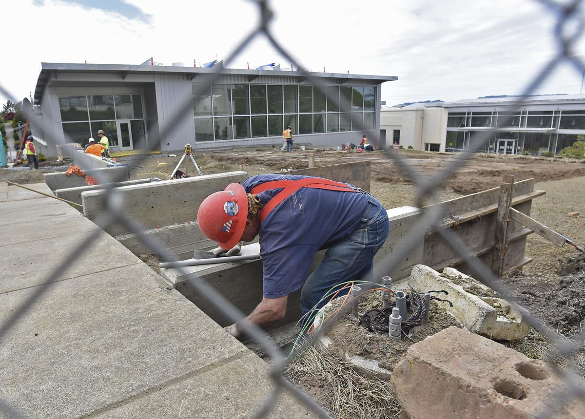 Almost there: College's Patriot Hall nears completion