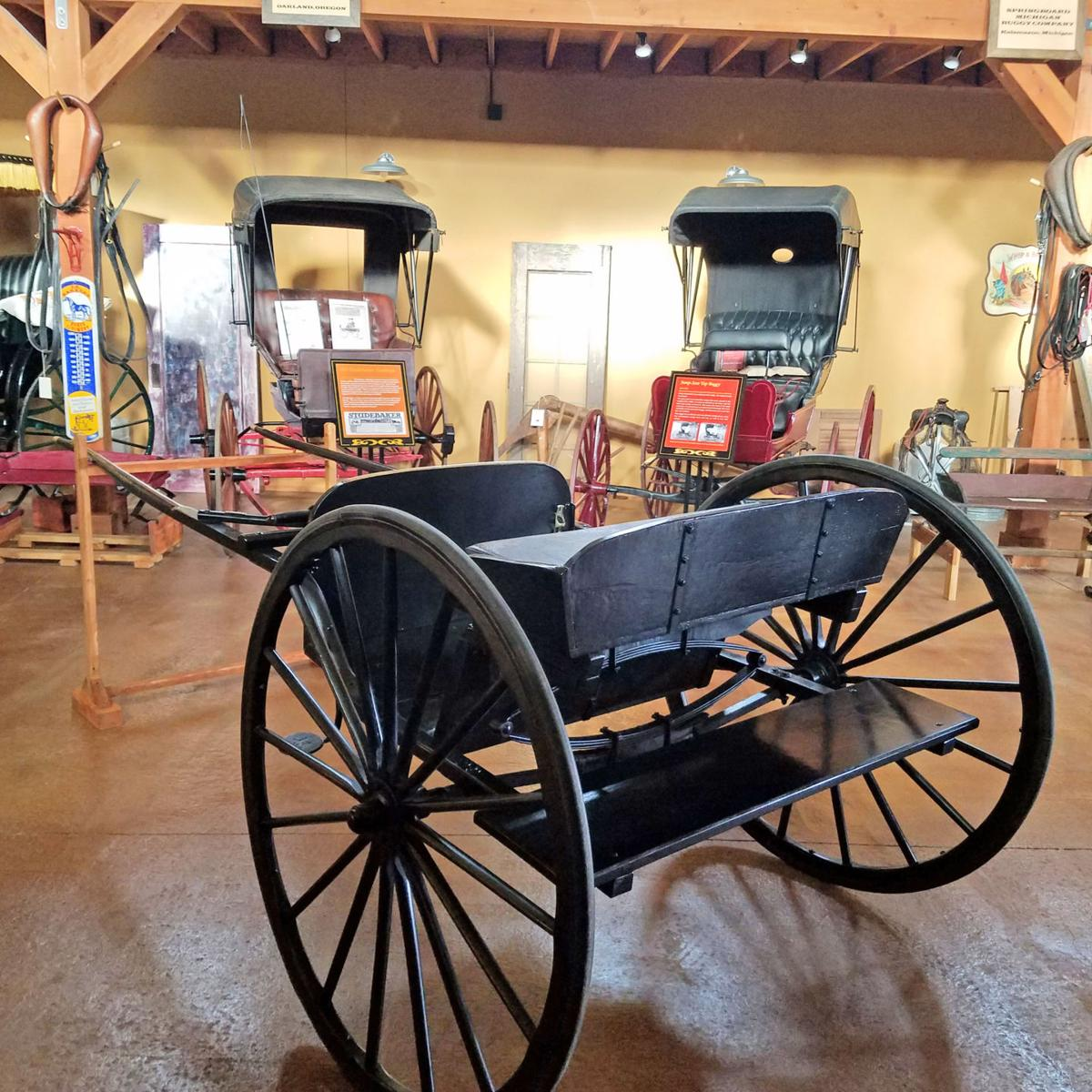 Amish cart rear view
