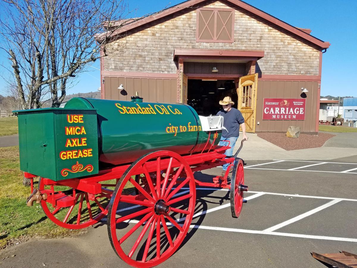 Kerosene wagon outside