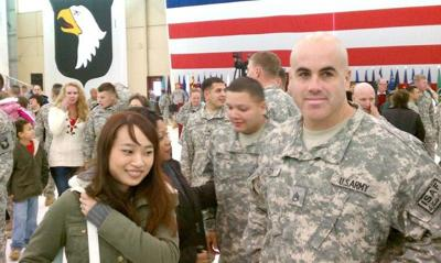 IN THE SERVICE: Cosmo Cozby safe at home after 13 months in Afghanistan