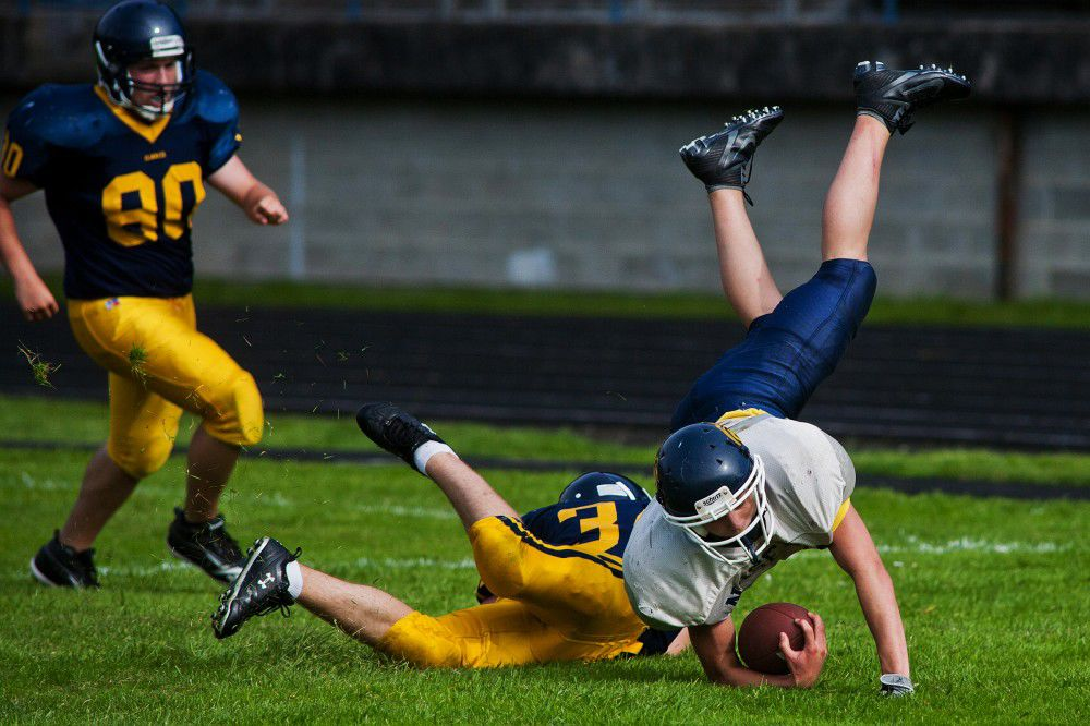 Comets, Fishermen end football spring training with scrimmage
