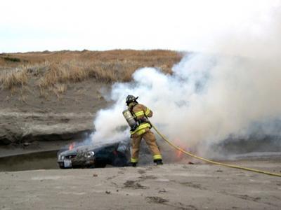 Teens rescue elderly woman on beach