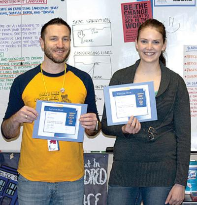 Scot Klohe and Hannah Pilon honored as IHS staff members of the month
