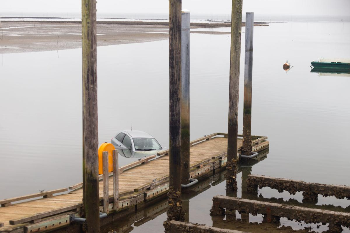 Toyota car driven into mooring basin