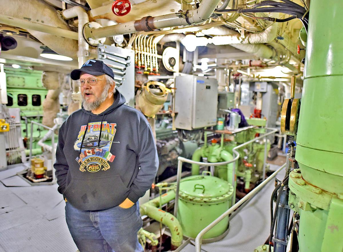 Don Floyd in Salvage Chief engine room