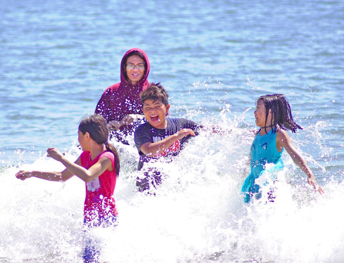 Summer beach frolic