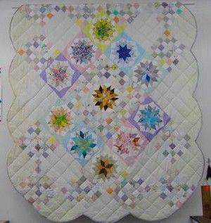 Donated quilt to raise funds