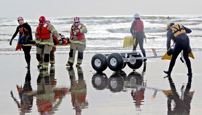 Surf rescue drill