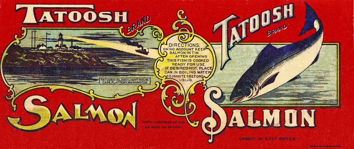 Tatoosh lighthouse label
