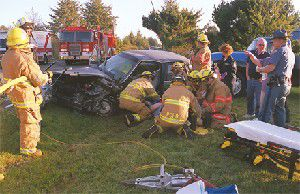 Head-ons and other traffic accidents keep emergency responders busy