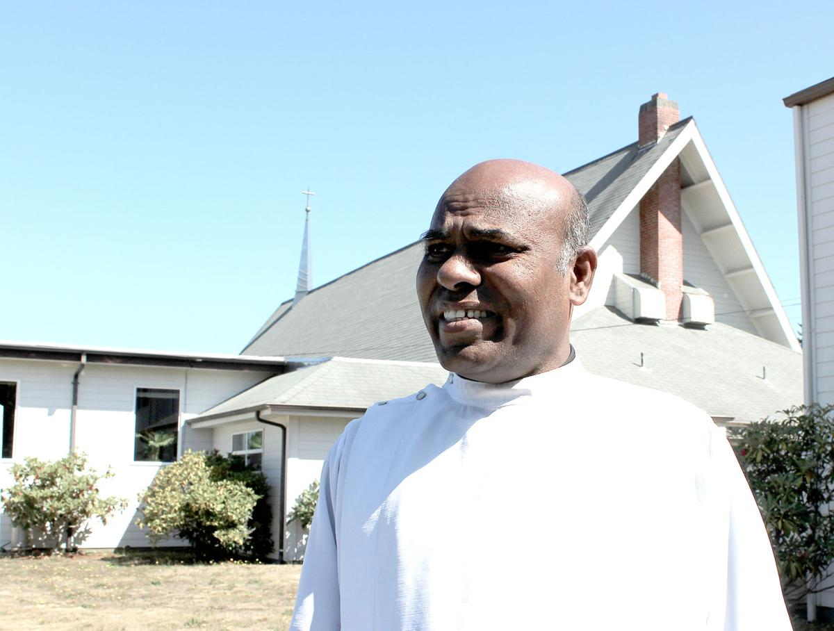 Priest races to herald the good news