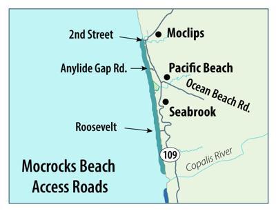 Mocrocks clamming beach