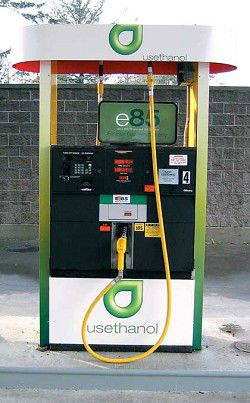 Flex-fuel vehicles can fill up with E85 in Seaview