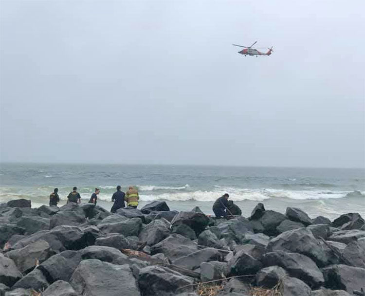 Helicopter searches for missing boater