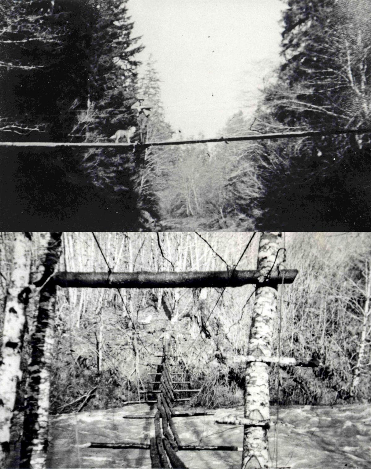 Swinging bridges on the Naselle