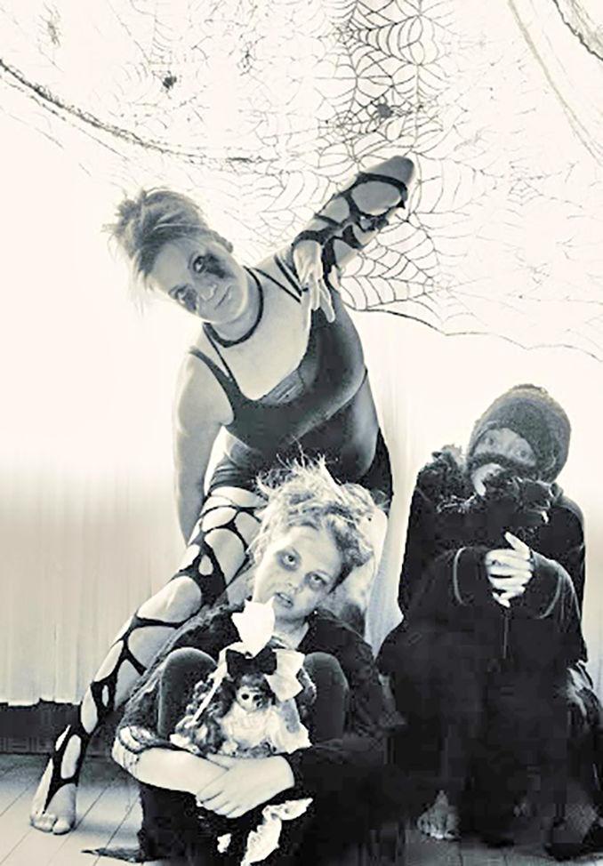 Choreographer Annika Kay and dancers