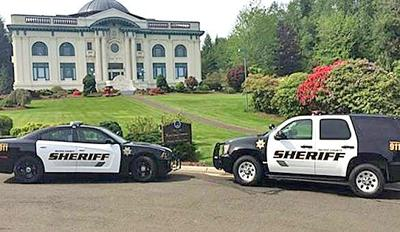 Pacific County sheriff's vehicles
