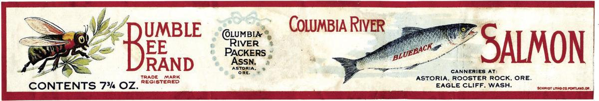 Old labels celebrate the long history of Bumble Bee/CRPA