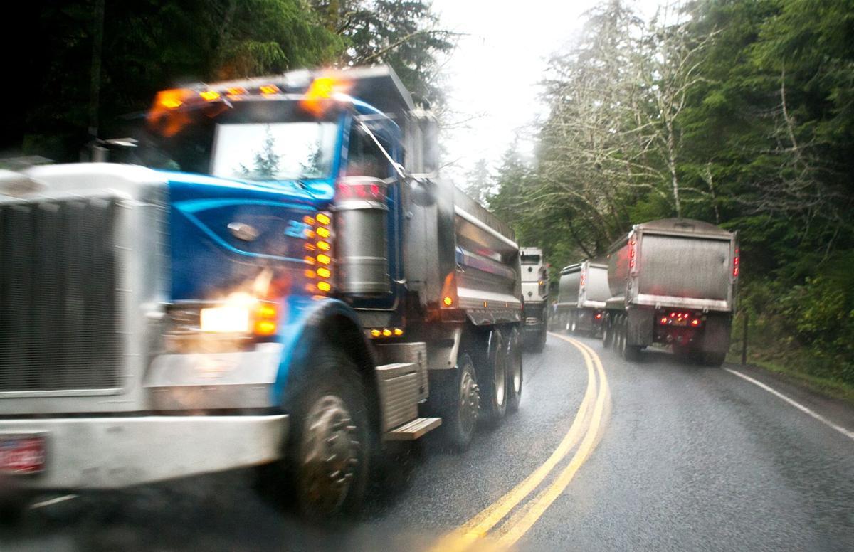 Dump truck jamboree  Constant caravan leads jetty-reconstruction campaign