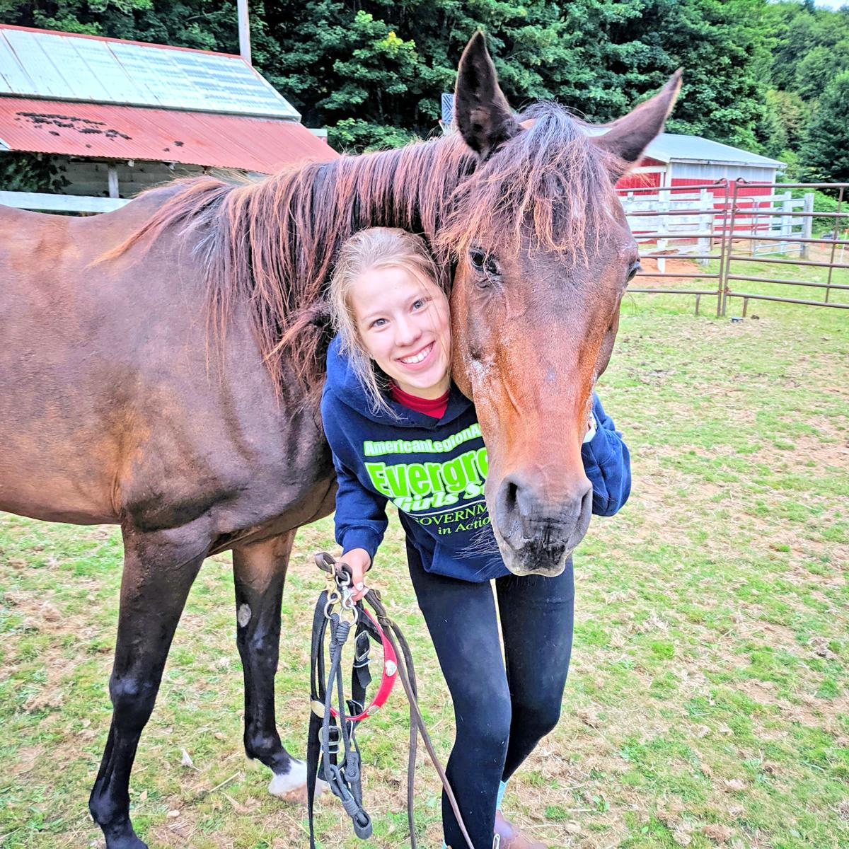 Lindsay Hunt and her horse