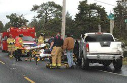 Three car rear end collision on Hwy. 103 and 199th sends two to hospital
