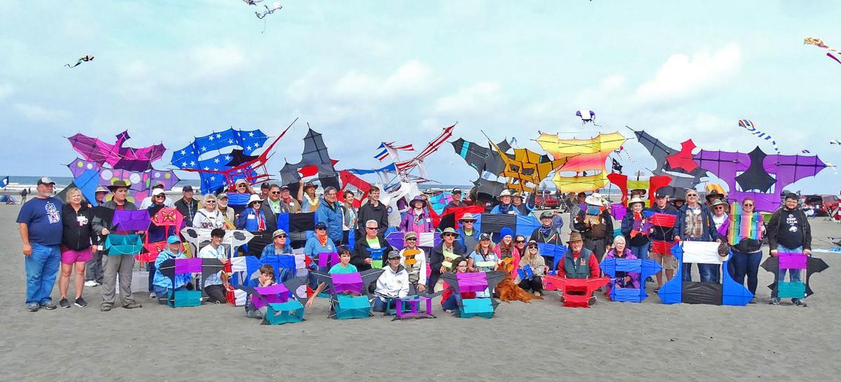 Box kite fliers celebrate