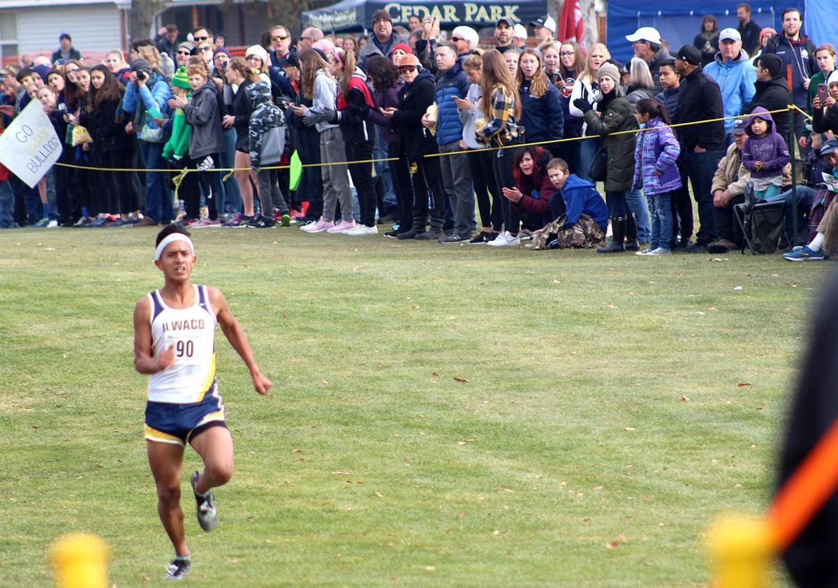 Daniel Quintana nears the finish line