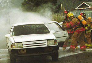 Fire trainees douse car blazes Saturday