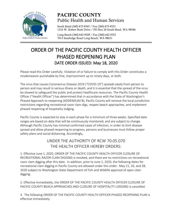 Phased Reopening Plan