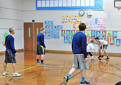 Young players compete in Elks Hoop Shoot