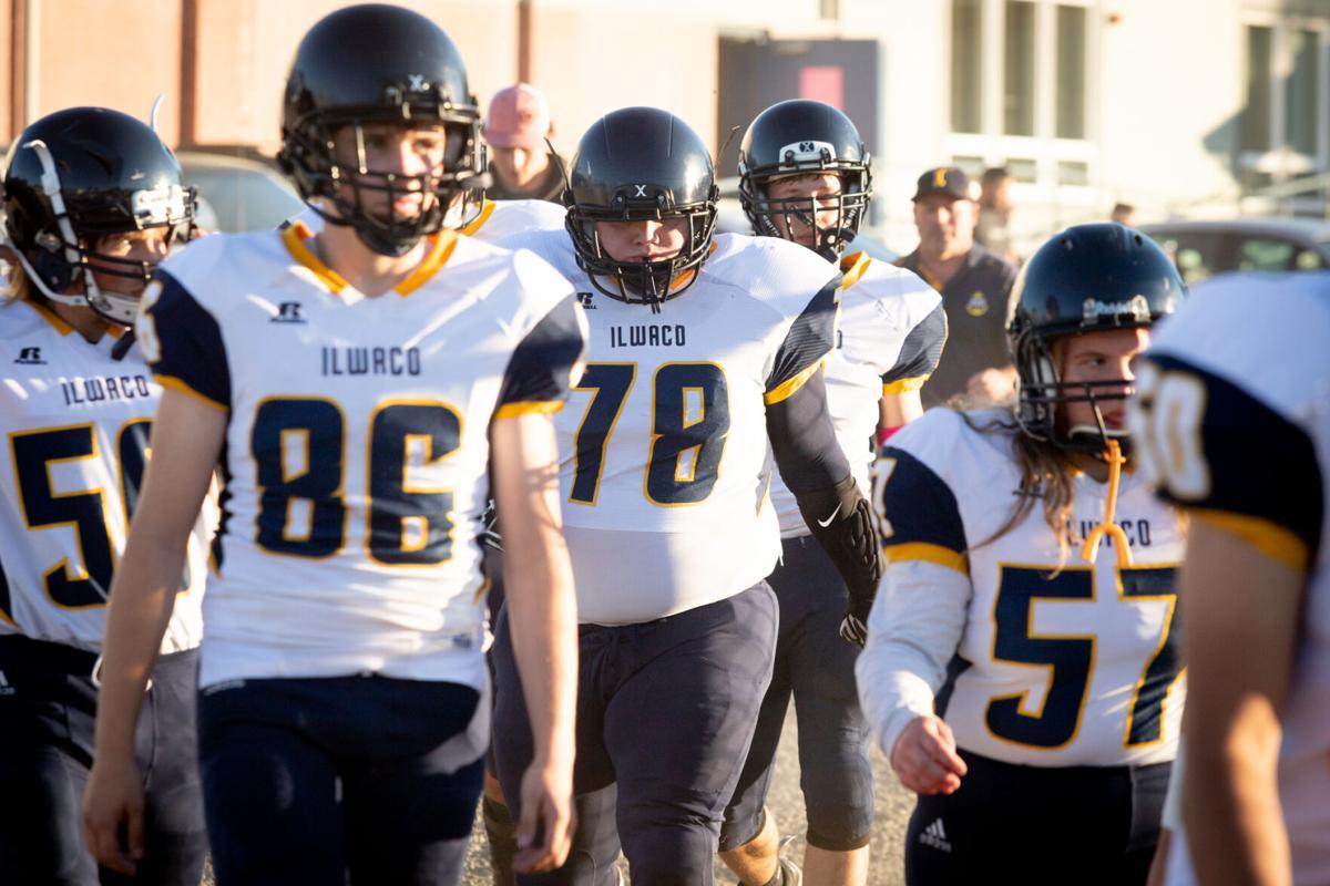 Players walk to field