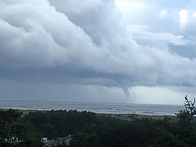 Large waterspout photographed off Surfside