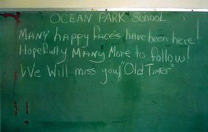Community gathers to say farewell to old Ocean Park School
