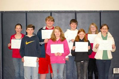 Naselle Middle School Students of the Quarter