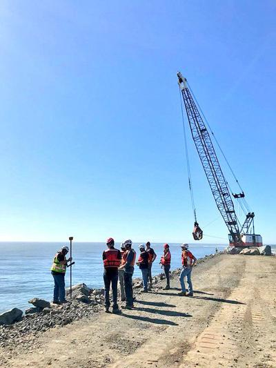 North Jetty work pauses