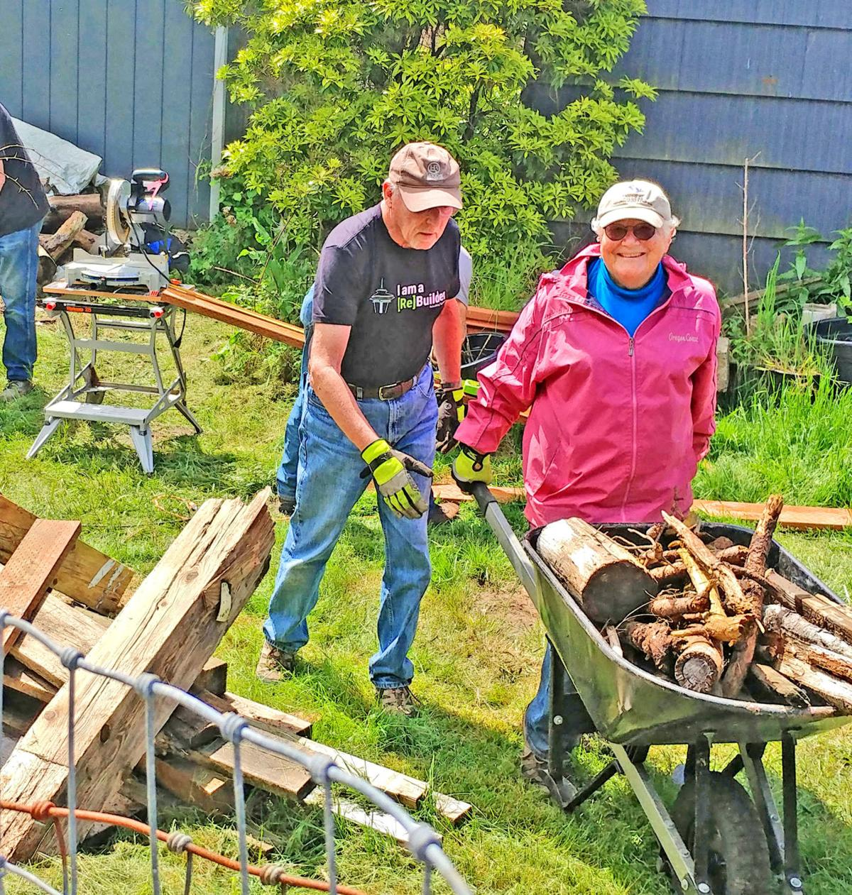 Rebuilding Together board members Dick Lenahan and Jean Stauffer