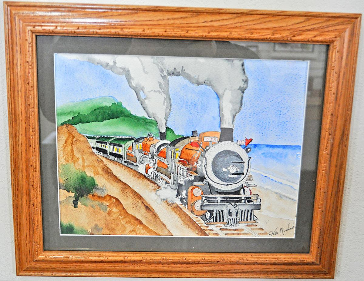 Moehnke's train painting