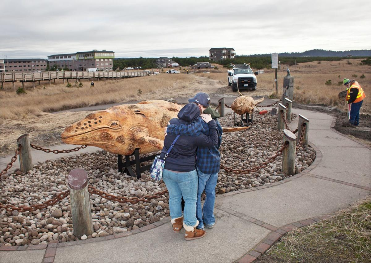 Corps of Decomposition  Long Beach turns to whale carvings after a stinky adventure with the real thing